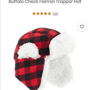 Carter's buffalo check flannel hat